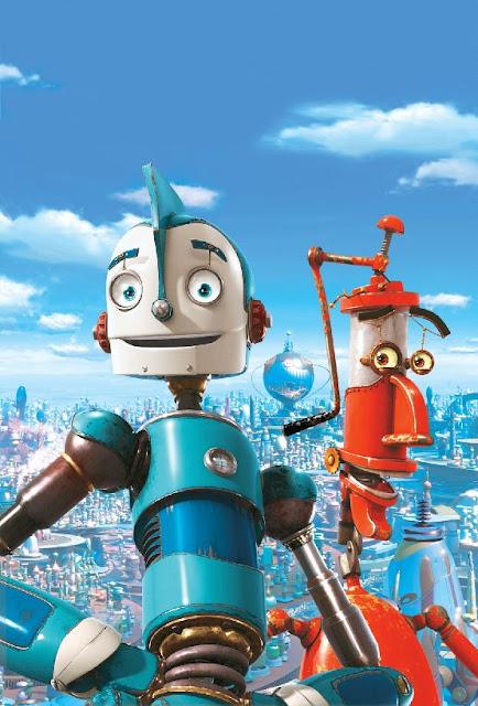 Imagen en 3D de los protagonistas de la película Robots