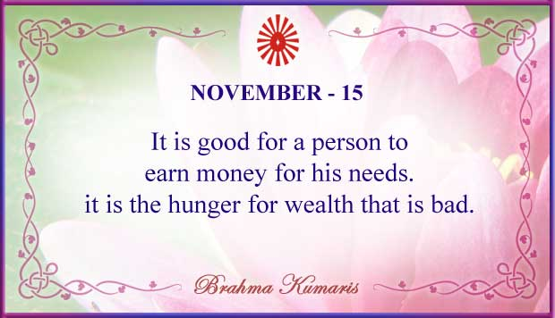 Thought For The Day November 15