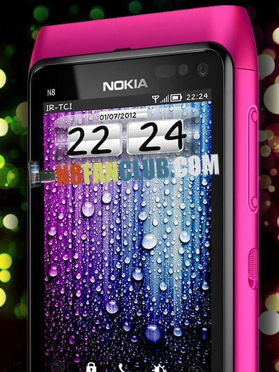 SymAndroid Digital Clock Widget - Nokia N8 - Symbian Belle