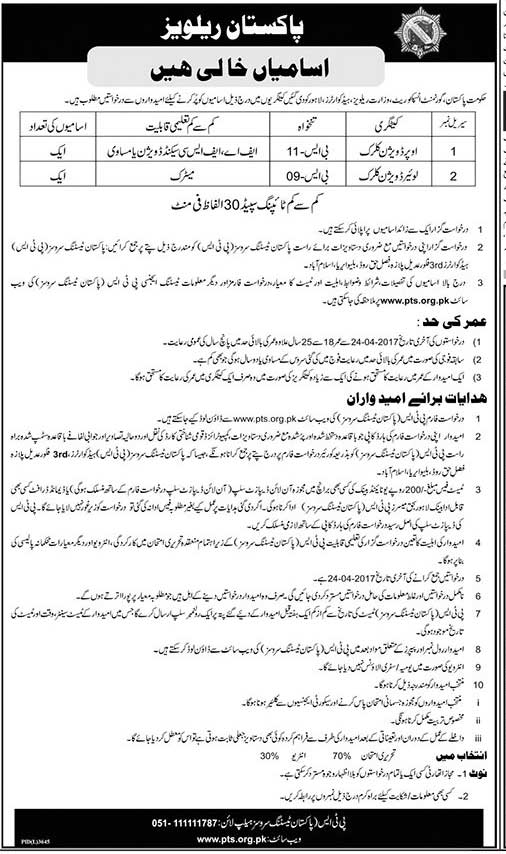 Pakistan Railways Lahore Jobs