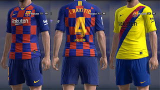 PES 2013 FC Barcelona Kits 2019/2020 by Micano