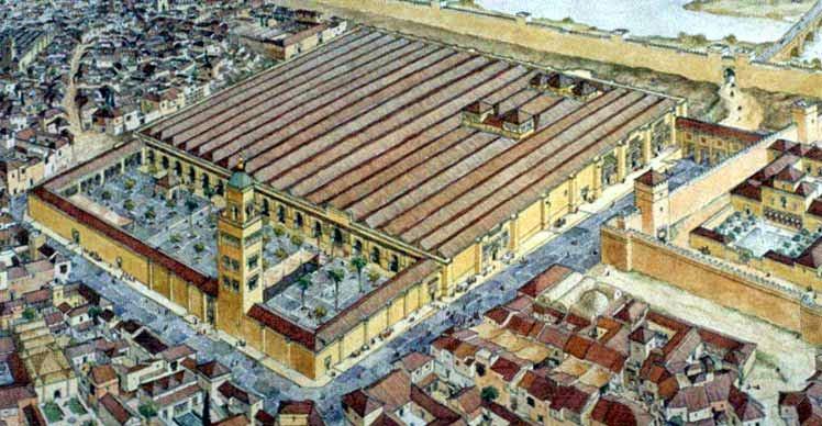 reconstrucción de la mezquita de Córdoba
