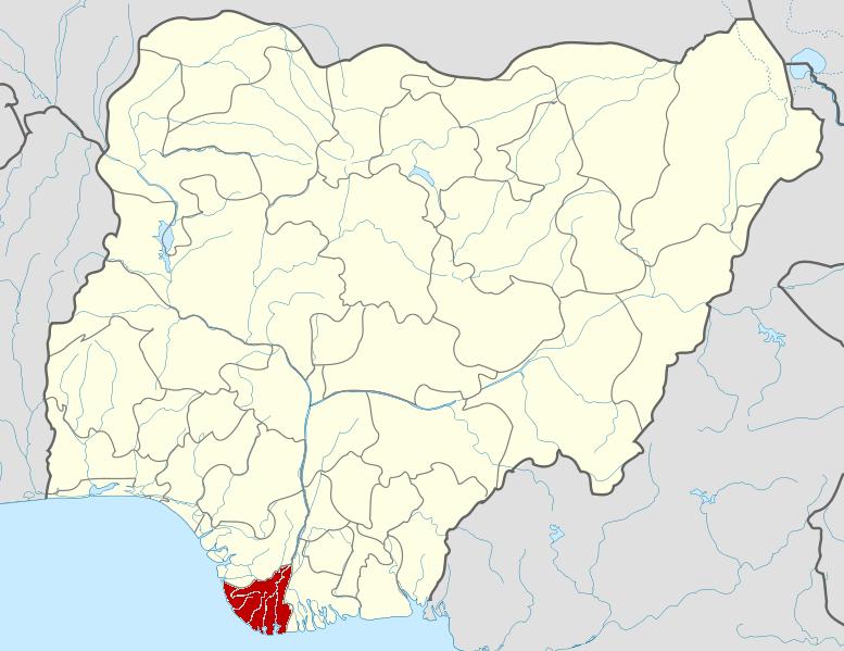 Map of Bayelsa