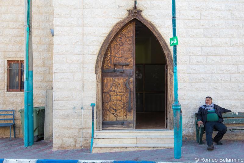 Mosque Door Jisr az-Zarqa Israel