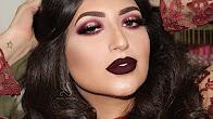 Dramatic Halo Smokey Eyes & Vampy Lips Makeup Tutorial   Melissa Samways