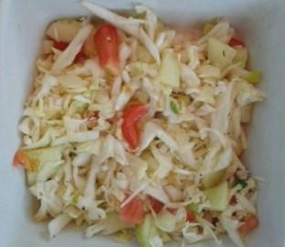 Sveza mesana kupus salata Fresh mix cabbage salad