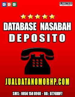Jual Database Nasabah Deposito Prioritas