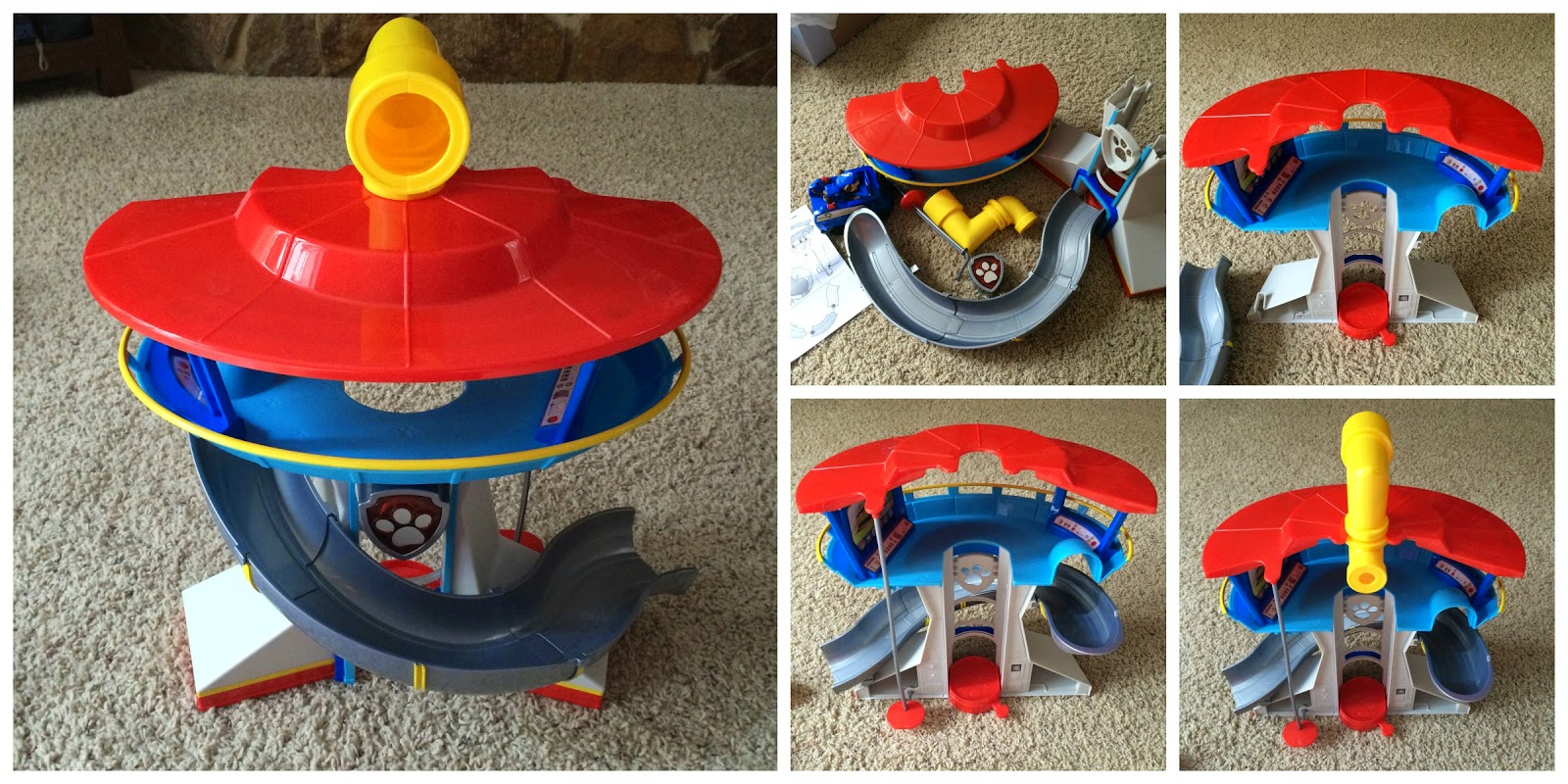 assembling Paw Patrol Lookout Playset #gotitfree