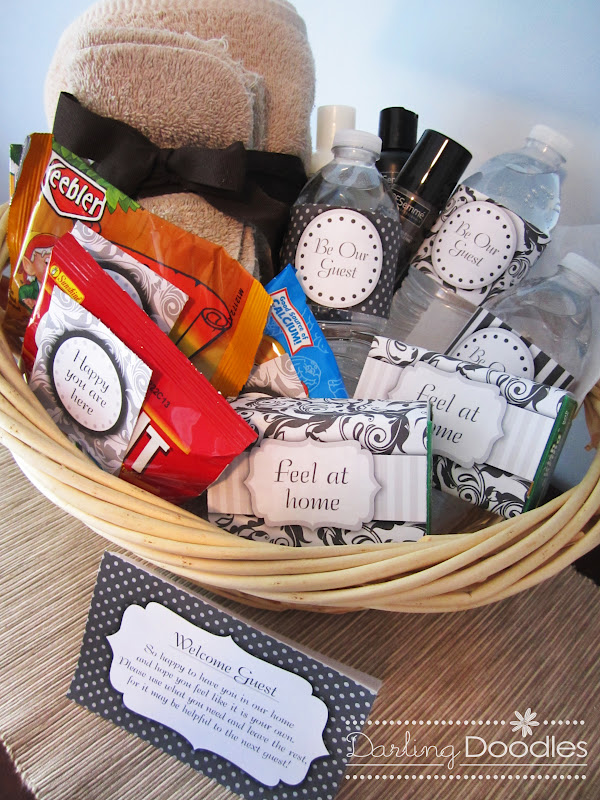 ideas for wedding welcome basket - Picture Ideas References