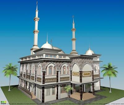 Masjid Minimalis Jasa Penulisan Kaligrafi Nama Ucapan Selamat