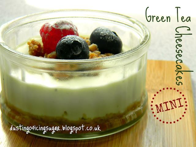 Mini green tea cheesecakes - dustingoficingsugar.blogspot.co.uk