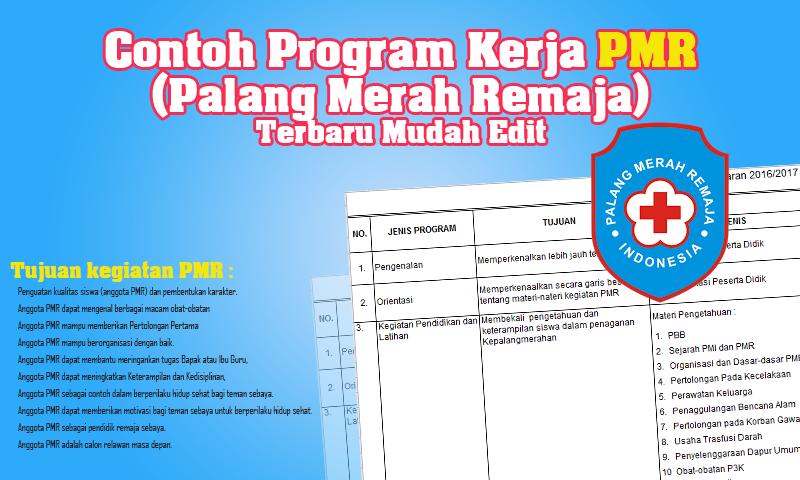 Contoh Program Kerja PMR (Palang Merah Remaja) Terbaru Syarat Akreditasi Mudah Edit