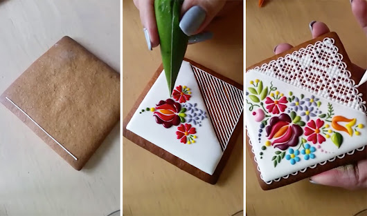 Embroidery-Inspired Cookie Decorating by Mezesmanna          |          Vigorous Art