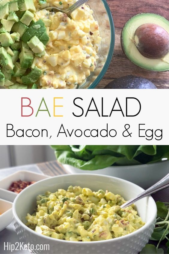 Low-Carb Bacon, Avocado, & Egg Salad