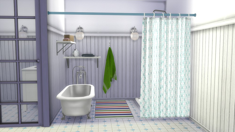 The Sims 4 Decor Ikea Shower Curtain Set 04