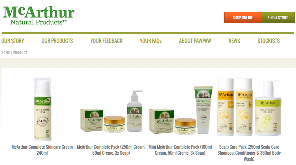 Mcarthur Natural Products Stockists