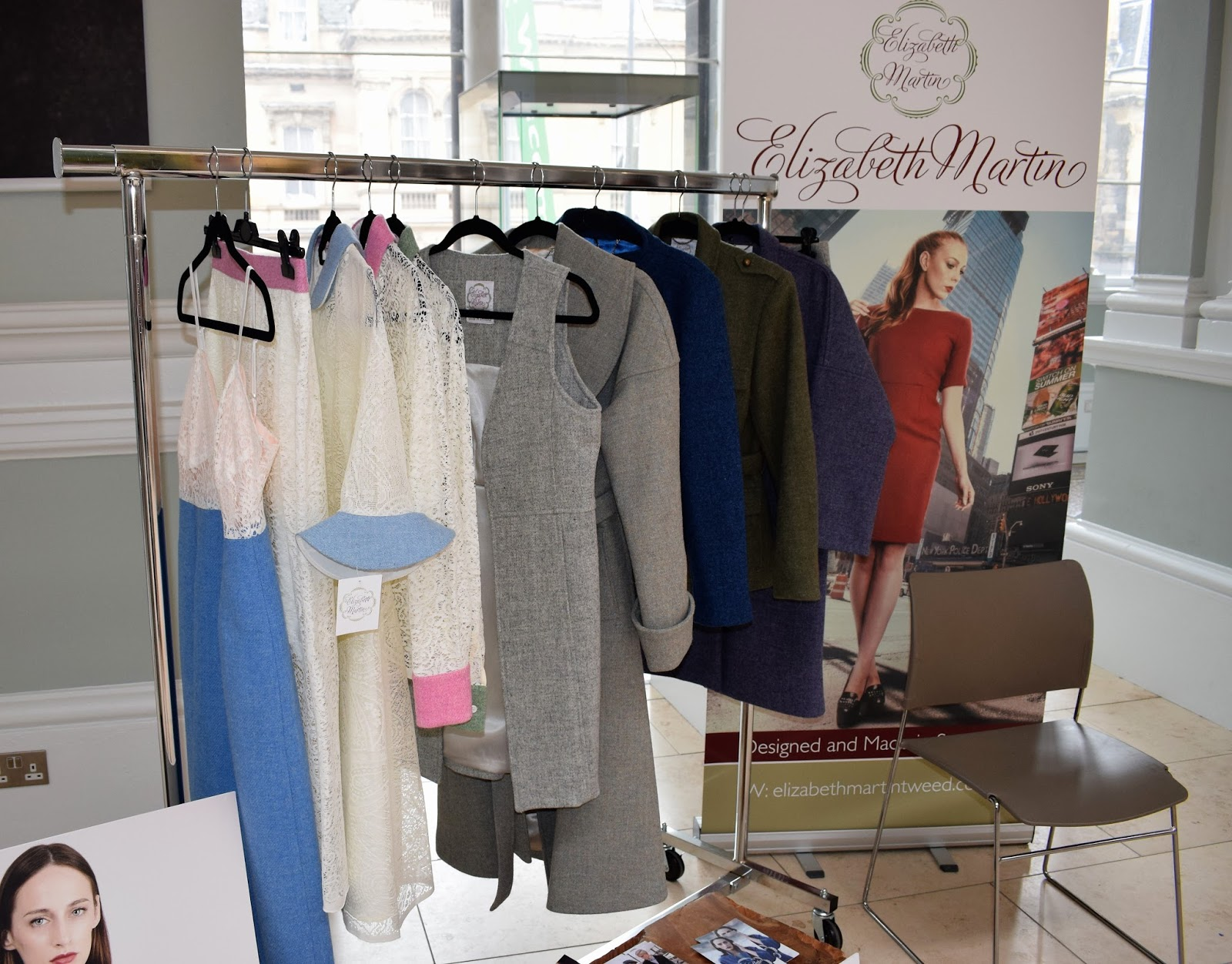 new Scottish design form Elizabeth Martin tweed, contemporary lace and tweed, new fashion collection from International Fashion Festival Edinburgh