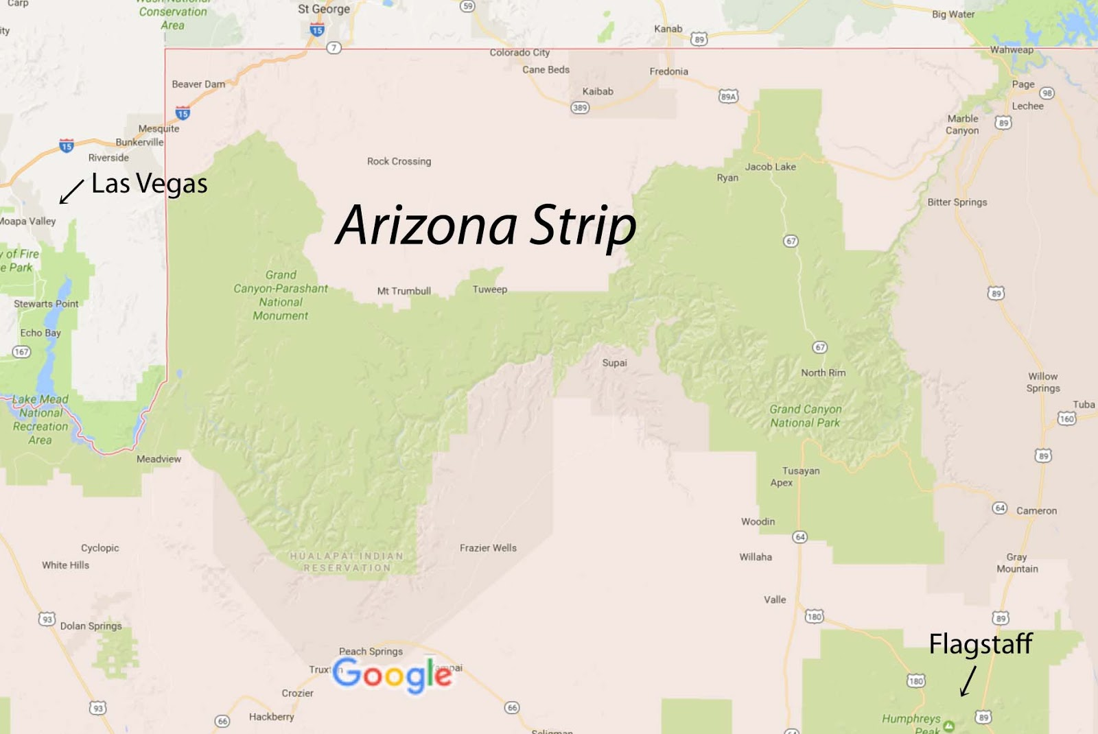 Map Of Just Arizona.Running From Moose The Arizona Strip Toroweap And Nampaweap Rock