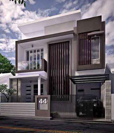 Desain Rumah Minimalis 2 Lantai Sederhana tapi Mewah