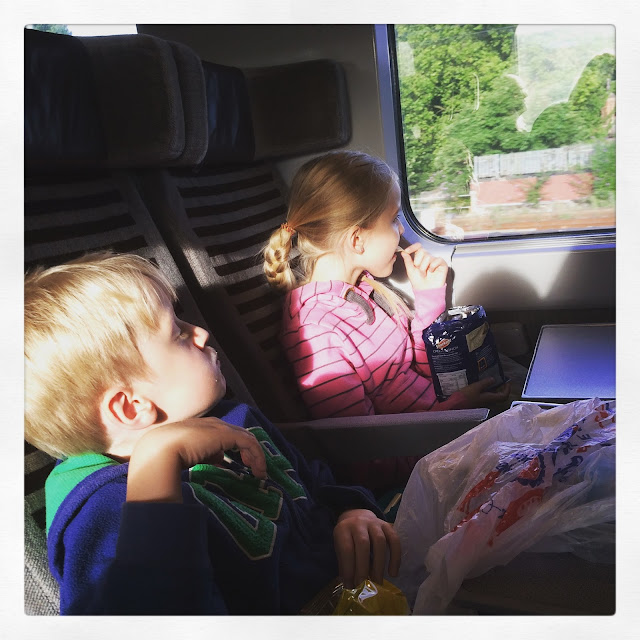 children on Eurostar train