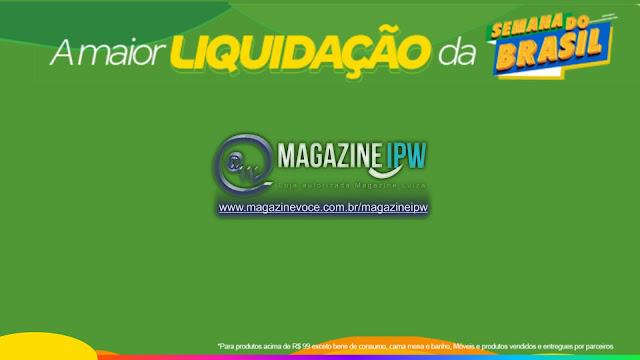 Magazine IPW está participando da maior liquidação da semana Basil, SEMANA VERDE E AMARELA