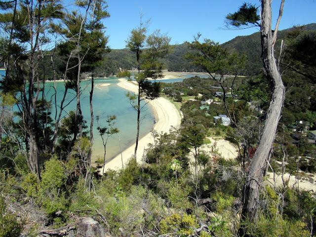 Playa de Bark Bay en Abel Tasman (Nueva Zelanda)