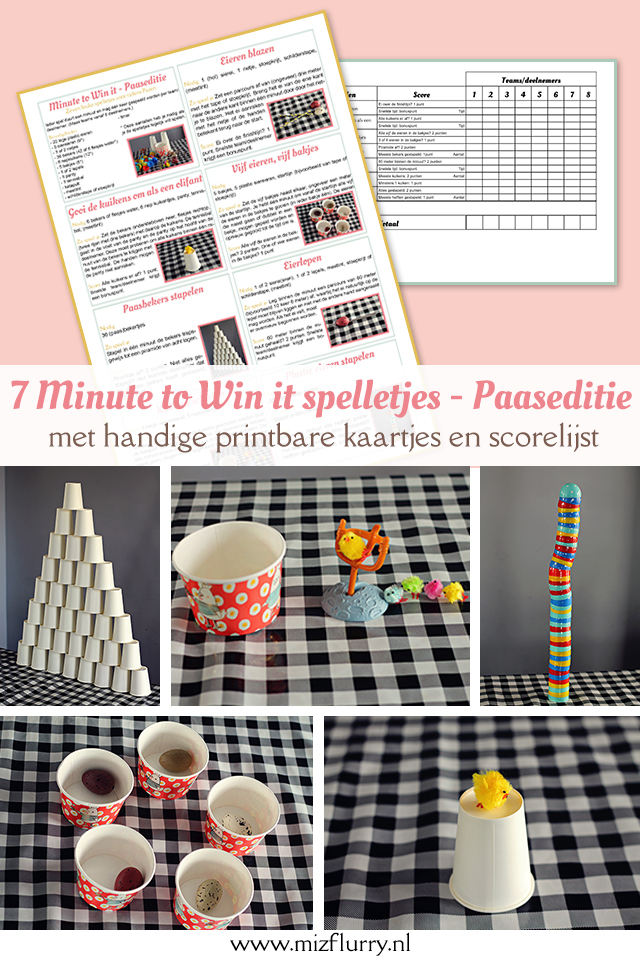 minute to win it spelletjes pasen pinterest