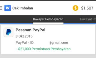 Bukti Pembayaran Aplikasi Whaff