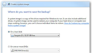 Click the Create a organisation icon on the travel window How to Create a Windows vii Repair CD