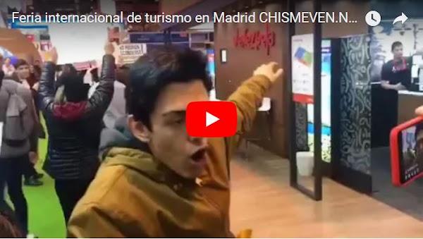Manifestación en el stand de Venezuela en la Feria internacional de turismo en Madrid