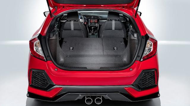 Mayor capacidad de espacio en el maletero - Honda Civic Hatchback 2017