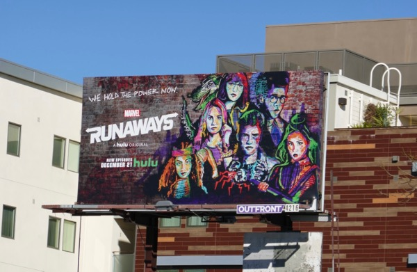 Runaways season 2 Hulu billboard
