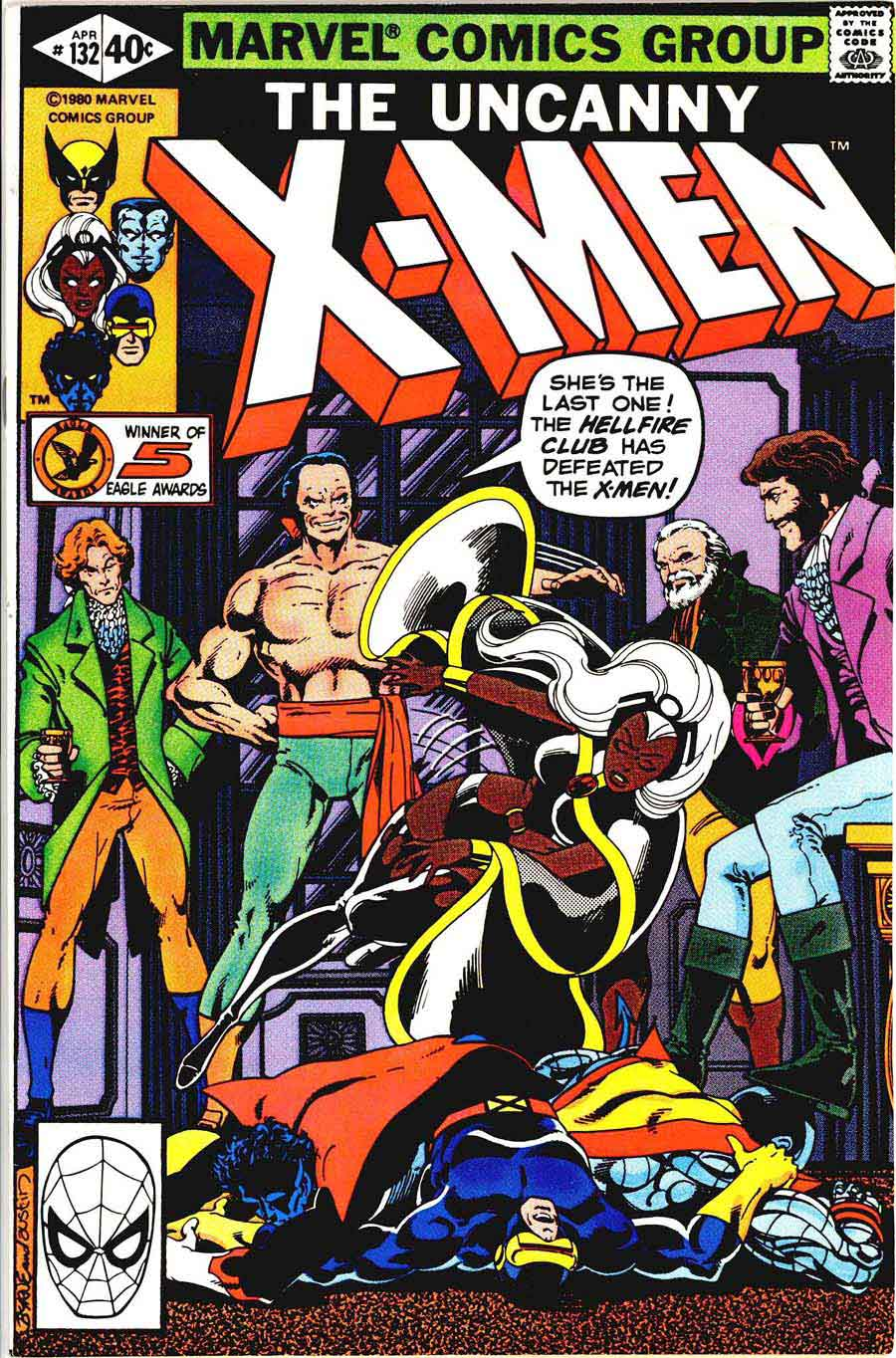 X-men v1 #132 marvel comic book cover art by John Byrne