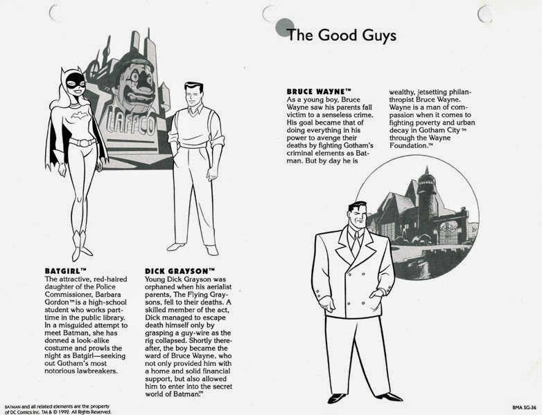 The Dork Review: Batman The Animated Series Style Guide!
