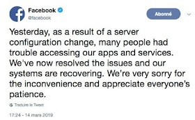 Facebook fixes its server problems, Apple is still on his