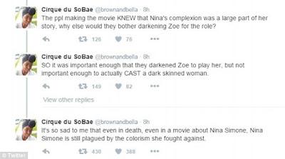 Zoe Saldana Nina Simone protest