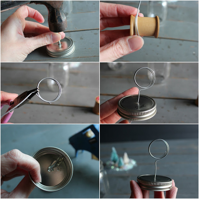 DIY Ball Mason Jar Photo Holder