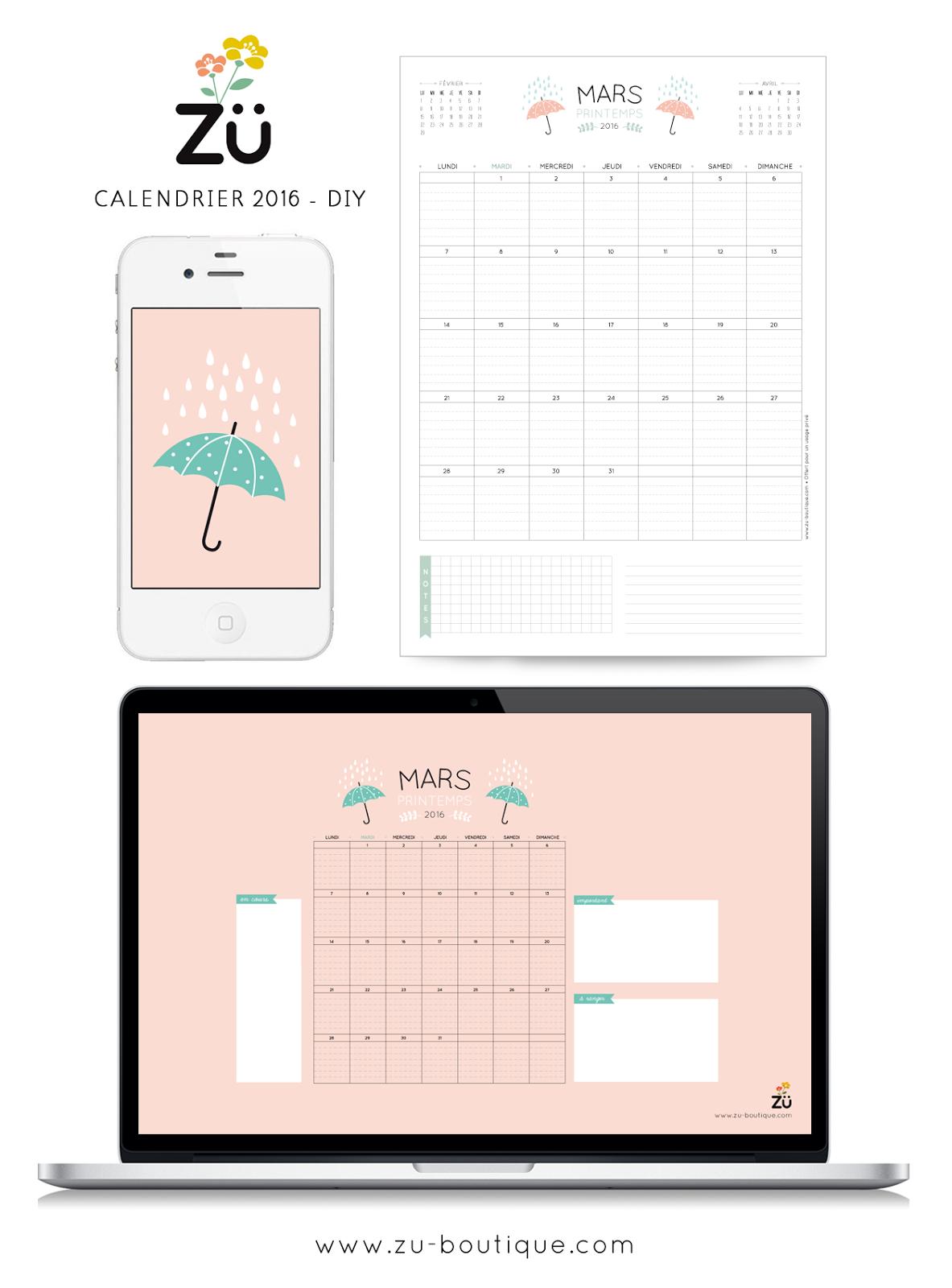 Z le calendrier diy mars 2016 for Calendrier jardin mars 2016