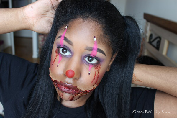 Halloween Makeup of a clown
