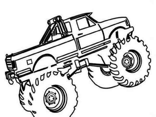 Download Coloring Pages Truck Coloring Pages Free Printable Monster Truck  Coloring Pages Pr  Free