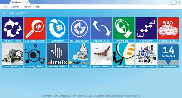 SEO Machine Pro : Phần mềm tổng hợp các Tools hỗ trợ SEO từ A-Z