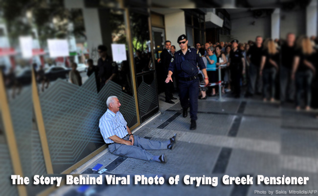 The Story Behind Viral Photo of Crying Greek Pensioner Captured the Hearts of Netizens