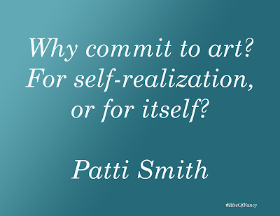 """Why commit to art? For self-realization, or for itself?"""
