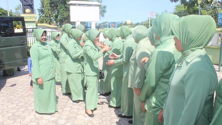 Persit Ranting Wilayah Timur, Tidak Luput Dari Kunjungan Kerja Ketua Cabang XVIII Dim 0703/Cilacap