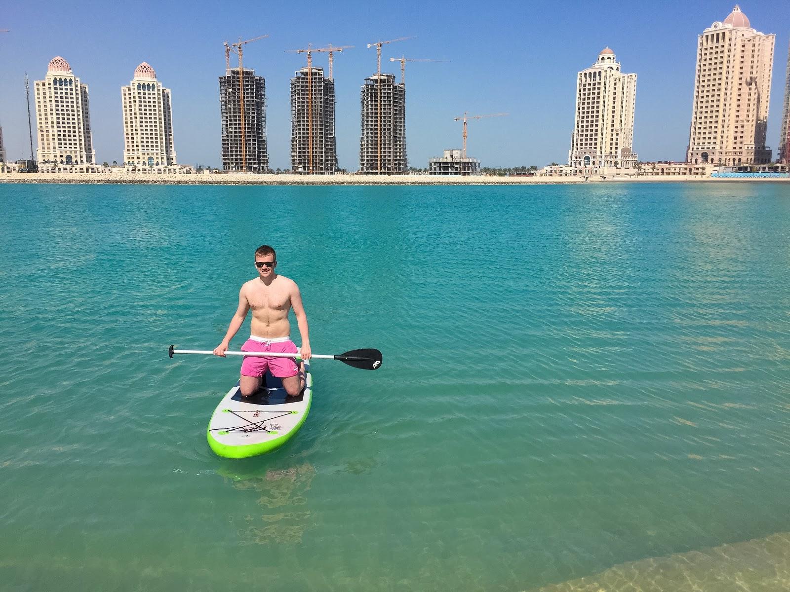 Visiting Qatar: Paddleboarding The Pearl Doha