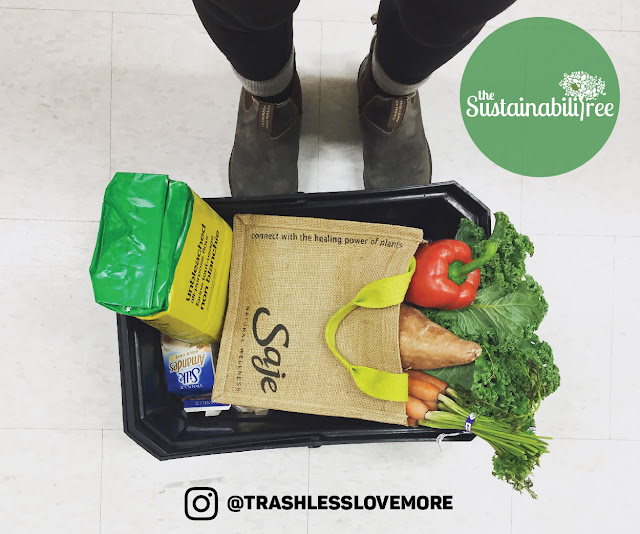 a basket of groceries without plastic