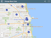 Chicago Blues Clubs map
