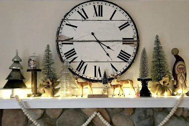 A Repurposed Christmas Mantel