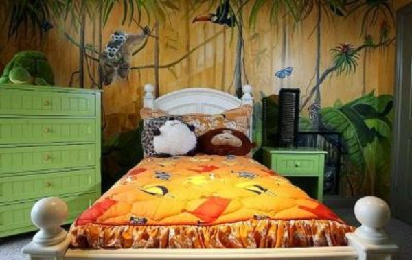 cuarto infantil tema jungla