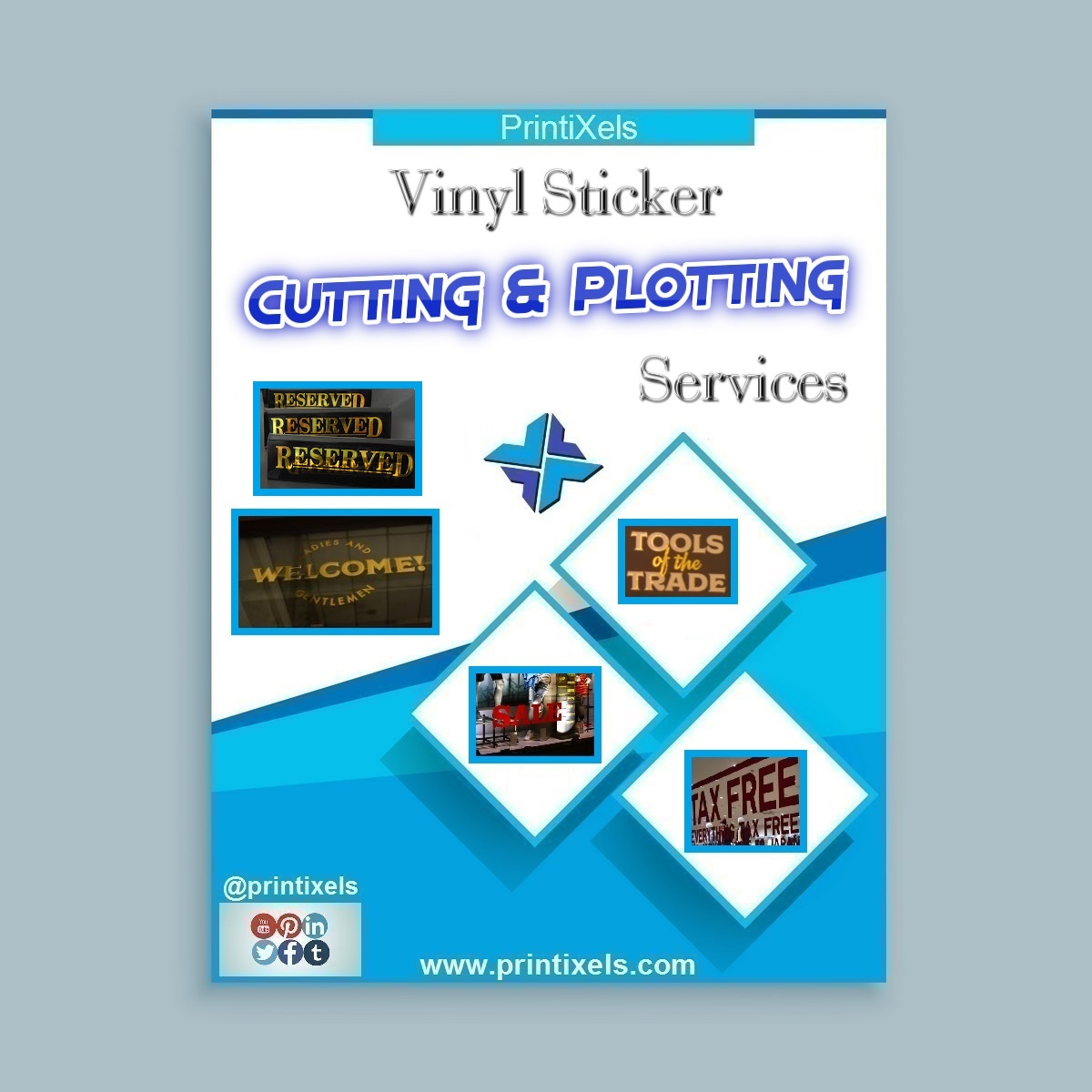 Vinyl Sticker Cutting & Plotting Services